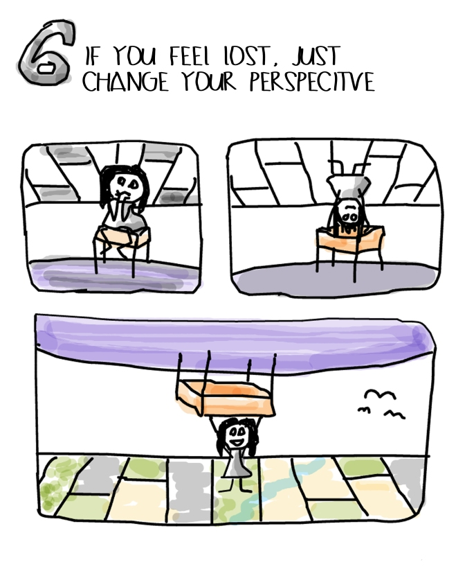 IF YOU FEEL LOST, JUST CHANGE YOUR PERSPECTIVE