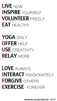 Live Your Life Manifesto