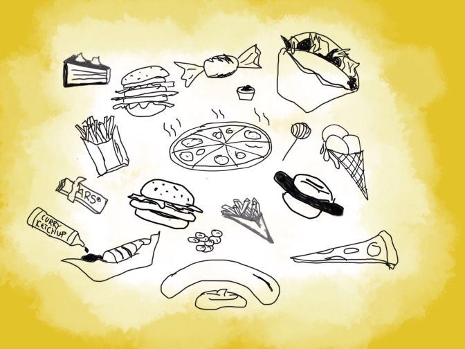 Doodle Fastfood And Sweets To Loose Weight?